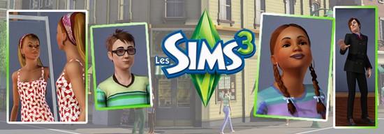 Bandeau Les Sims 3