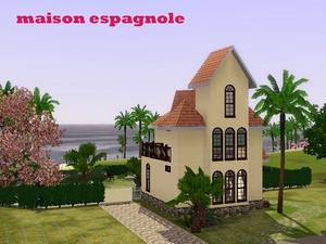 t l chargement gratuit de la cr ation sims maison espagnole maison. Black Bedroom Furniture Sets. Home Design Ideas