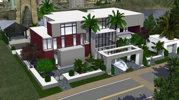 Stunning maison moderne de luxe sims 3 photos awesome interior home satellite Maison de luxe moderne